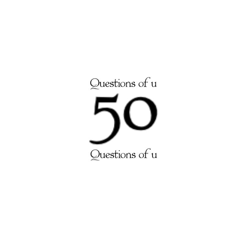 【戴き企画】50の質問①