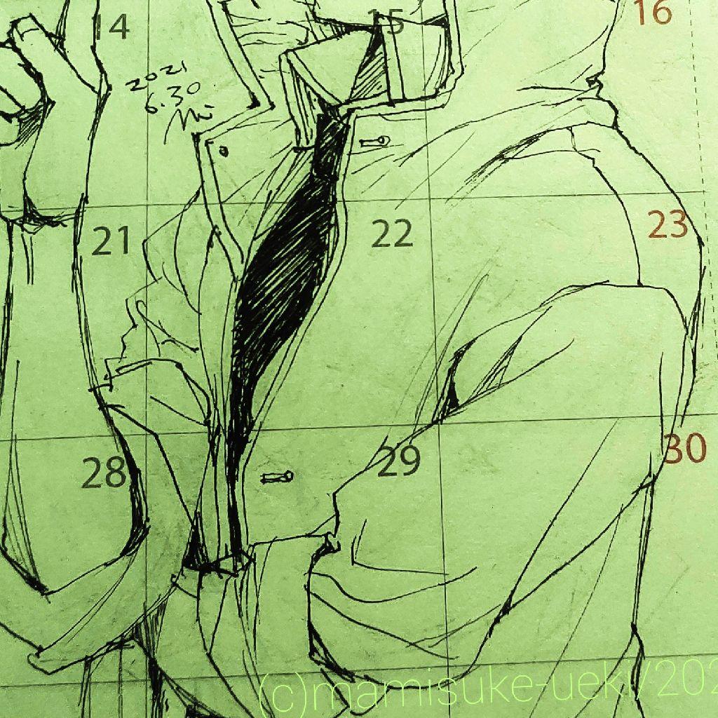 @:433「ヘッダイラストを手帳に描く実況」
