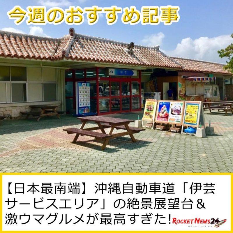 沖縄自動車道「伊芸サービスエリア」の絶景展望台 & 激ウマグルメが最高すぎた