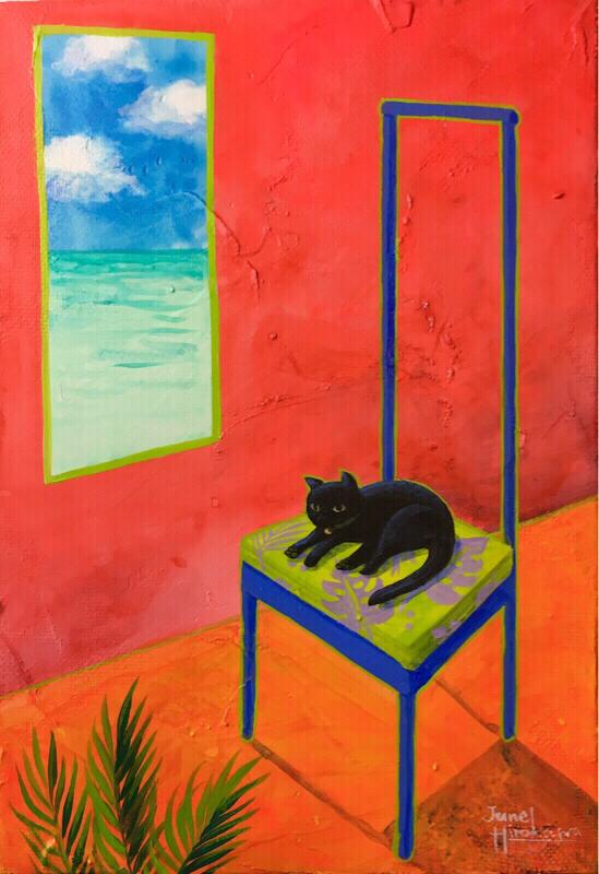 南国の画家 廣川じゅんさんの作品の気配に魅かれる。