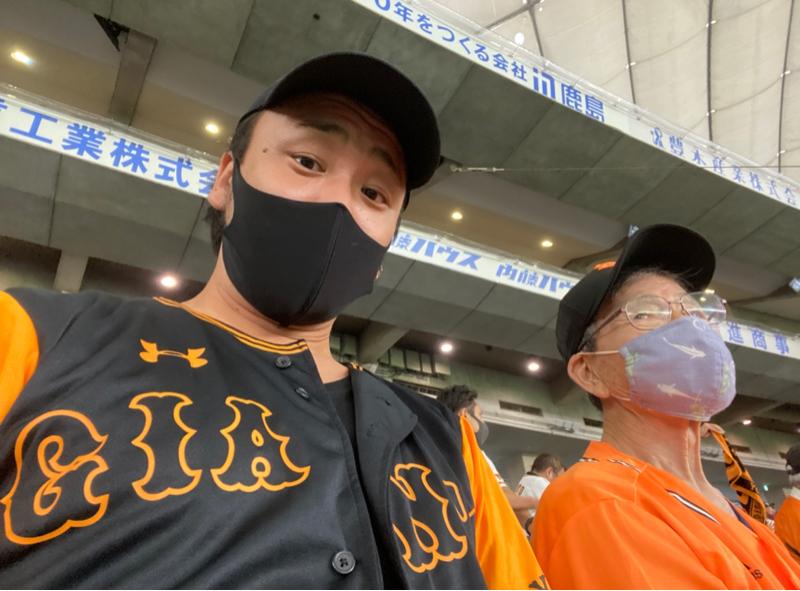 #190 じいちゃんと20年ぶりのドーム観戦