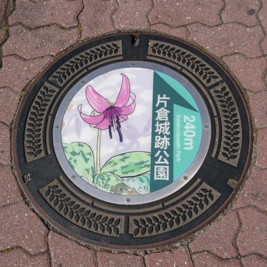 片倉城跡公園を散策しながら