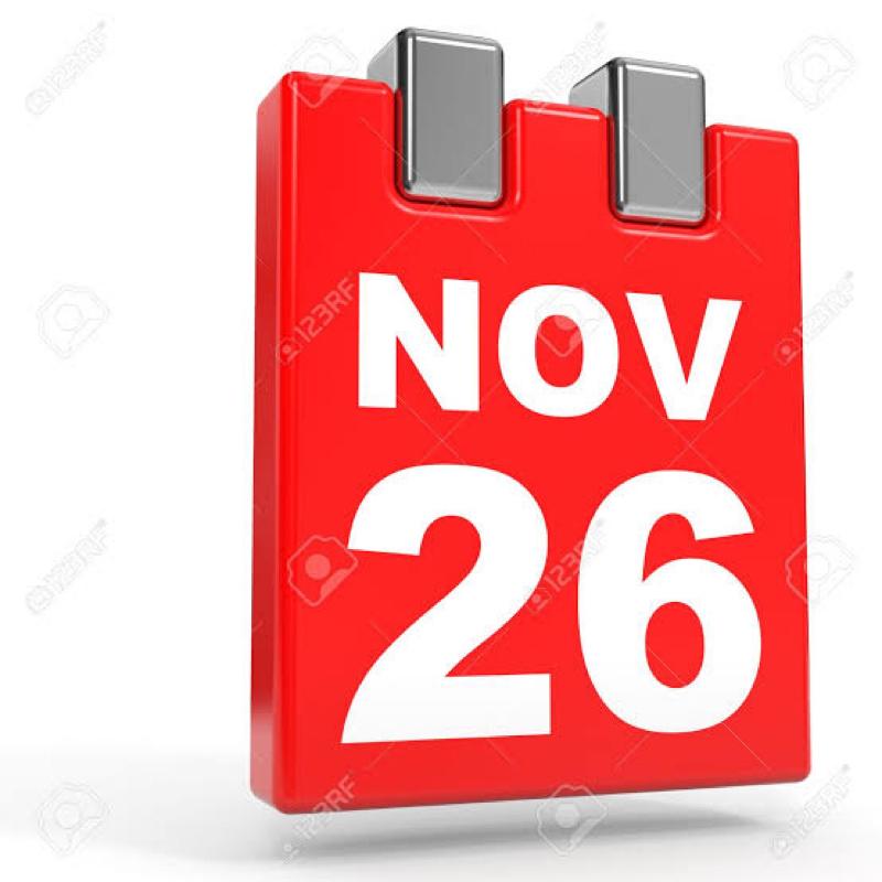 11月26日