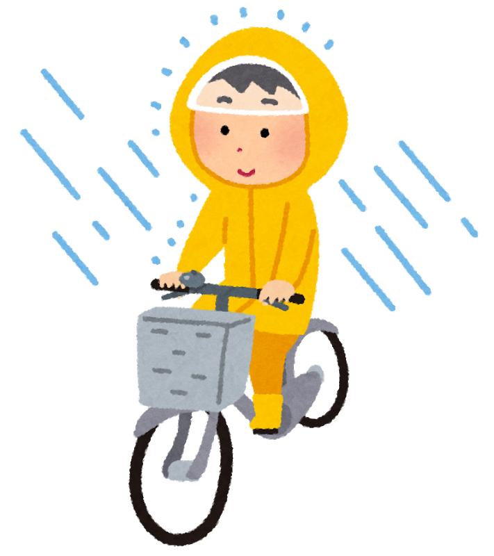 雨の日のヤクルト配達