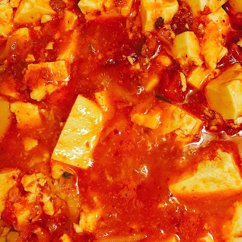 麻婆豆腐を作っている音