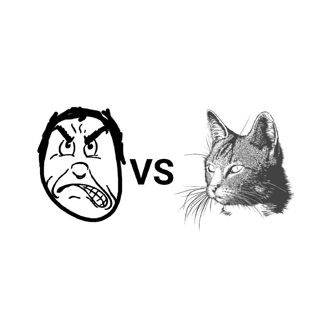 老人vsネコ