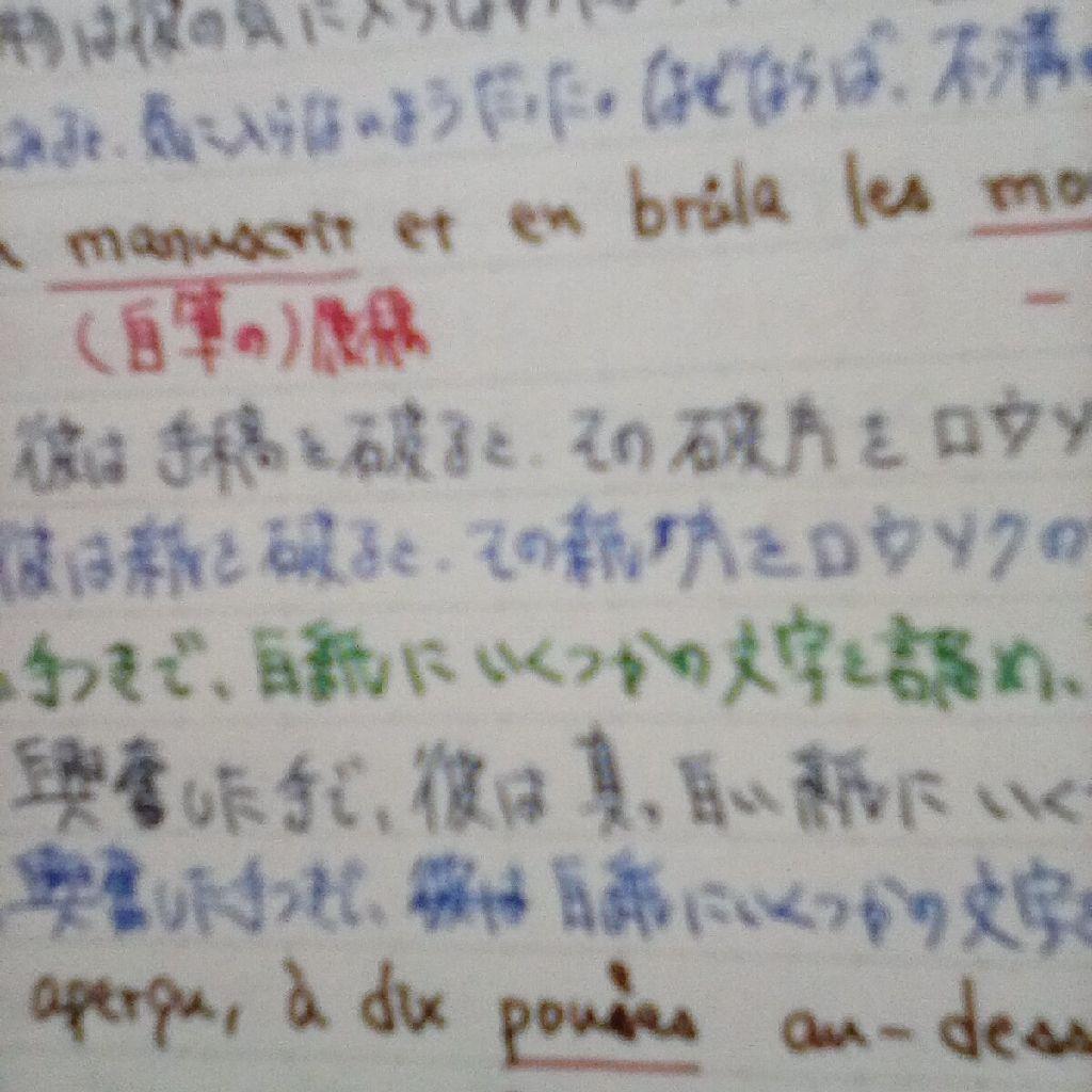 325粒目 翻訳の話/万年筆のインクの色の話