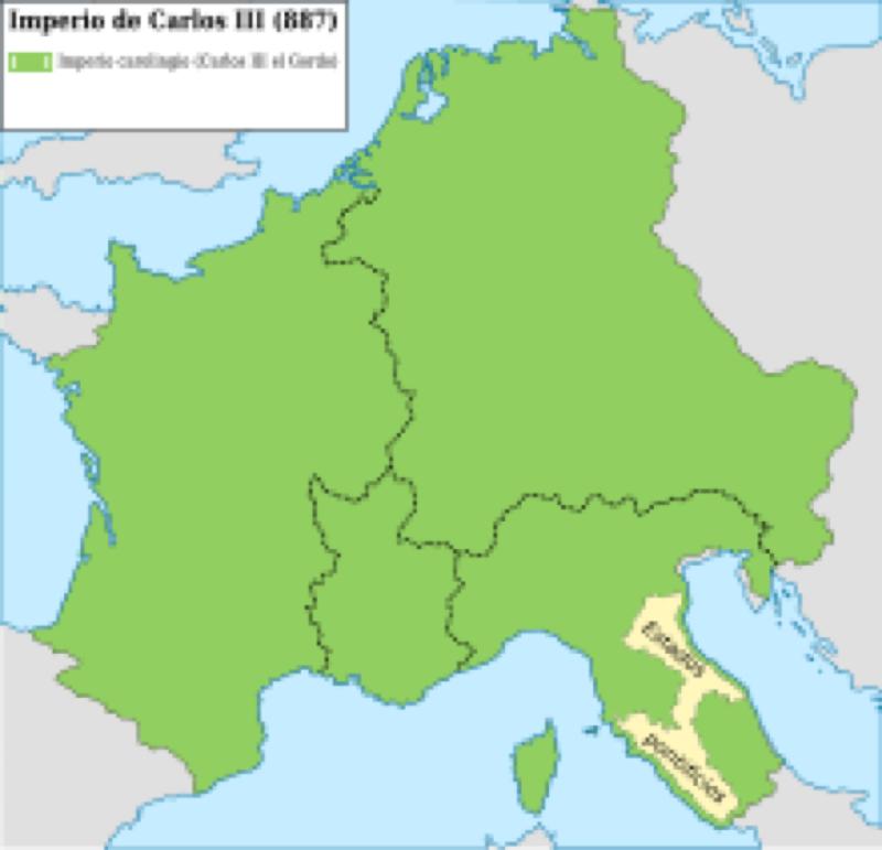 881年2月12日 幻の西ローマ帝国の復活 肥満王カール3世の即位