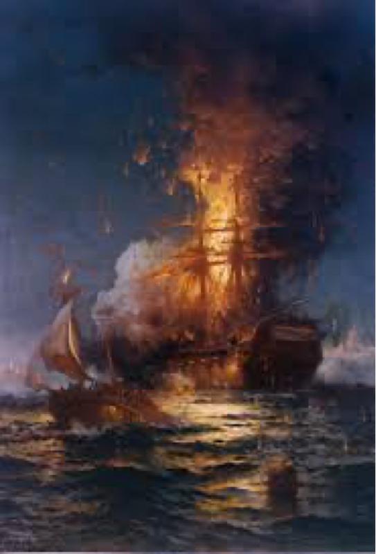 1804年2月16日 アメリカ最初のミッションポシブル!戦艦フィラデルフィアを爆破せよ!