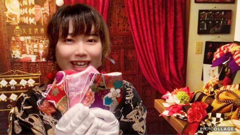 梅澤アンナの大正浪漫お喋り喫茶#101 気持ちの良い和柄マスク