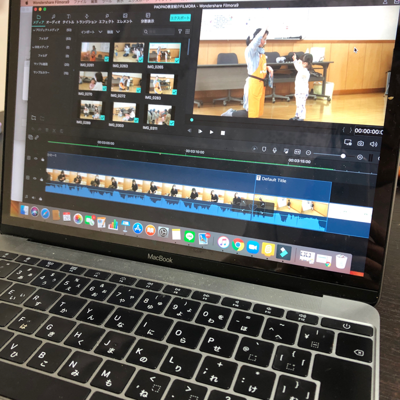 教室撮影と動画作成のお話