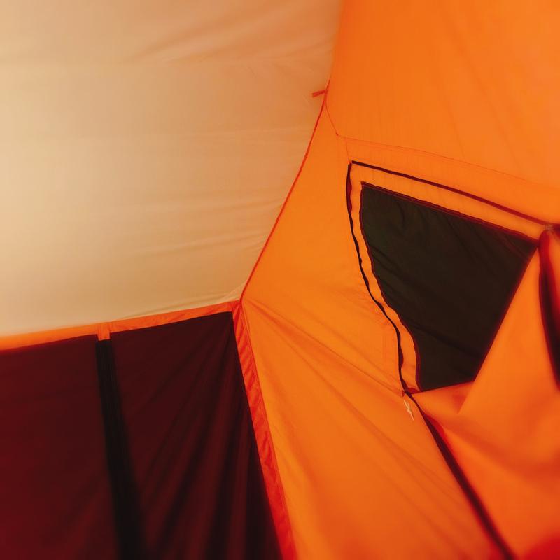 テラスでテント。芽生えたキャンプへの興味。