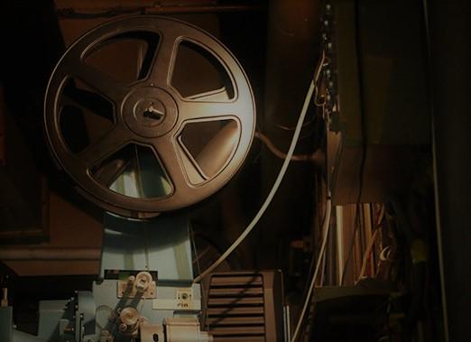 映写室の天井