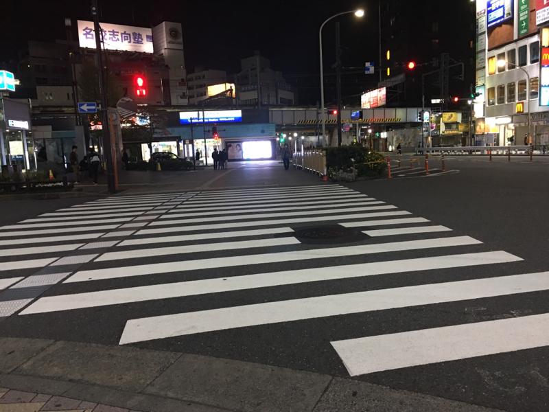 昨夜の高田馬場の光景