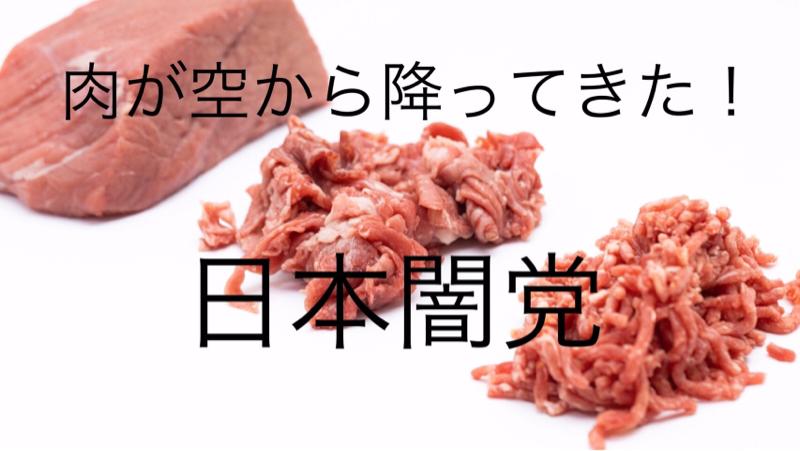 空から肉が降ってきた!!