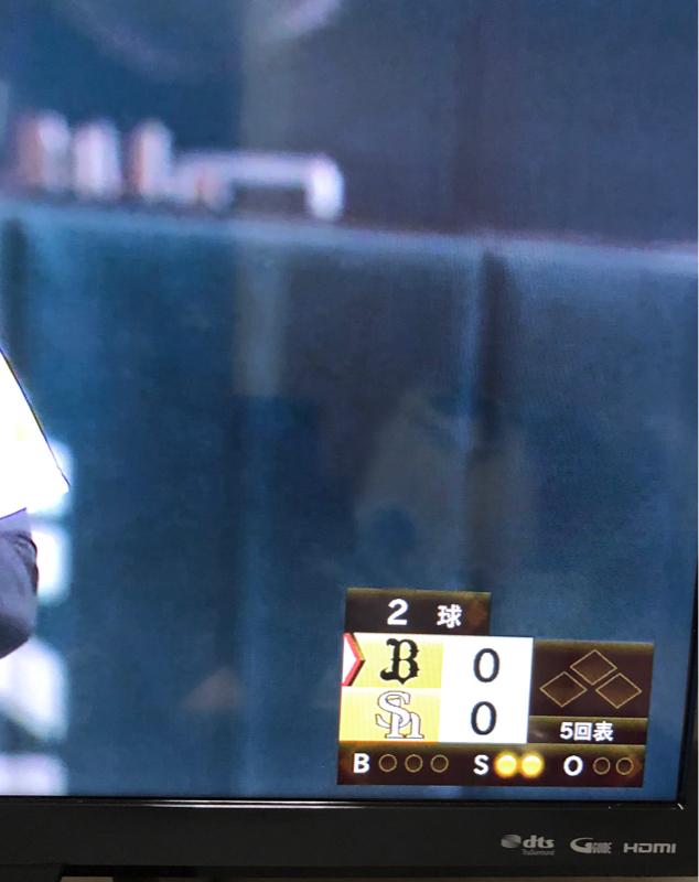 オリックスvsホークス戦を見てます。