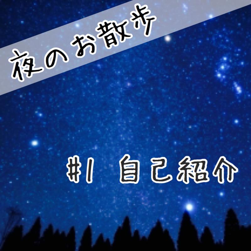 夜のお散歩 #1 自己紹介
