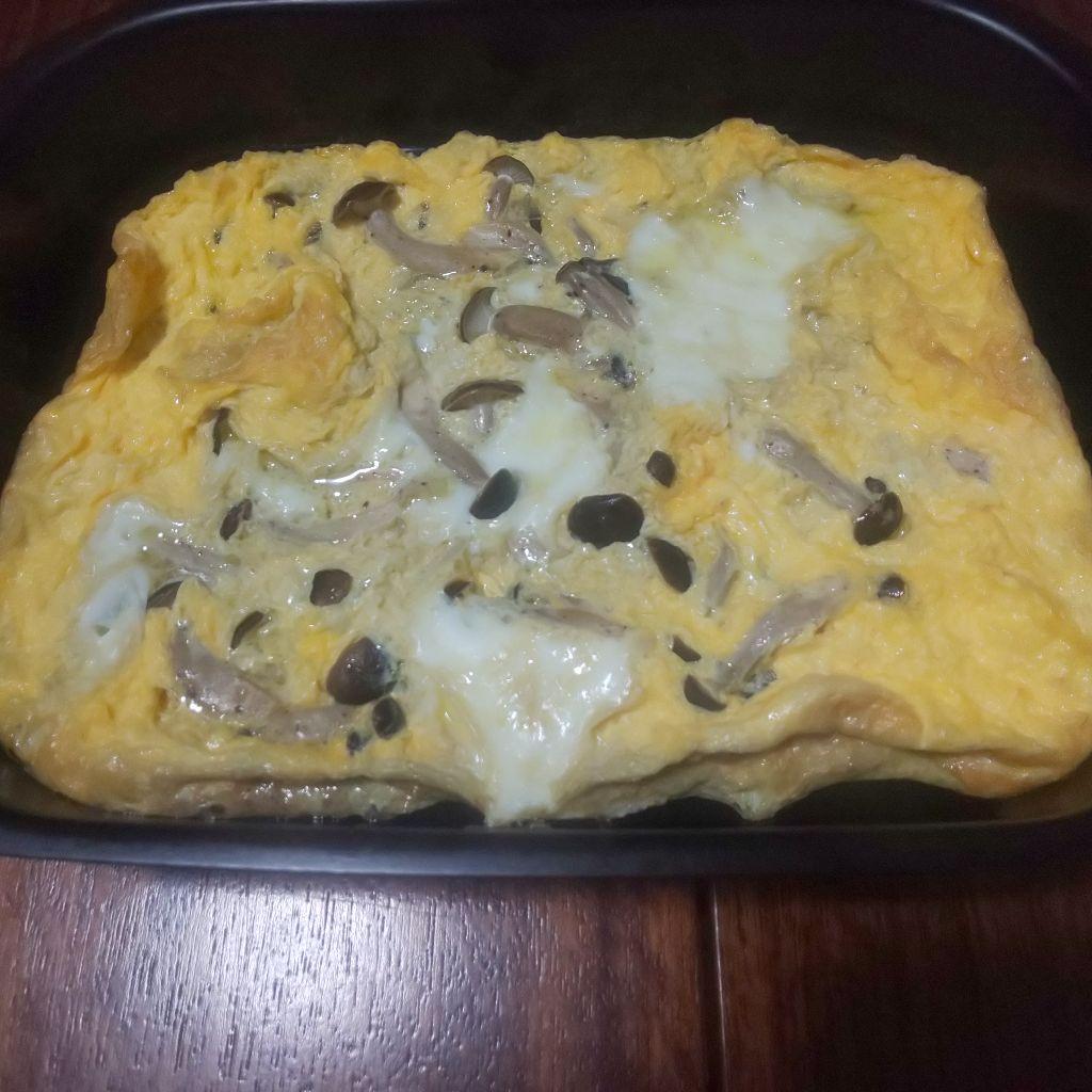 メイン1.オーブンで作るきのこオムレツ