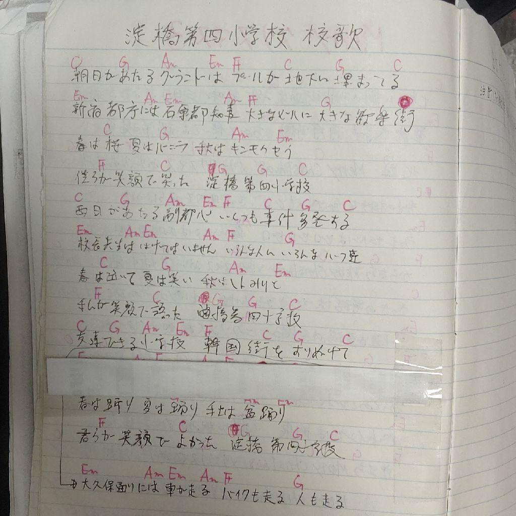 #141『🎵淀橋第四小学校校歌🎶』