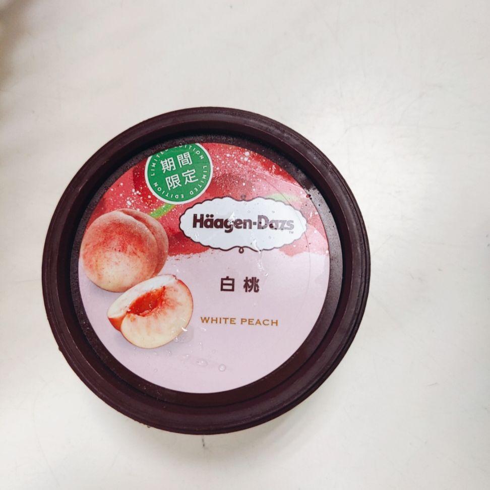 ハーゲンダッツ 白桃  食レポ
