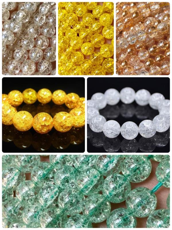 天然石【爆裂水晶・クラック水晶】