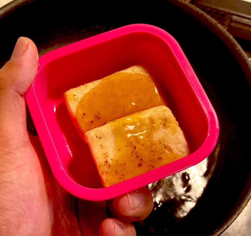 給食卵アレルギー 厚焼き卵をお豆腐ステーキ #117