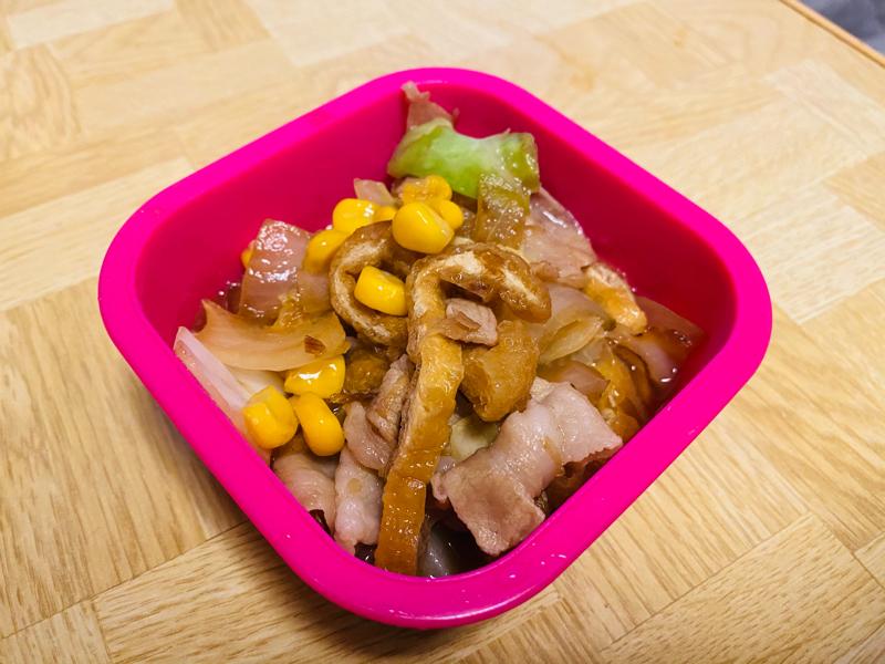 あぶ豚丼レシピ 給食卵アレルギー代替品 #132