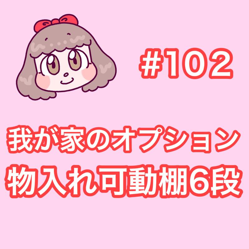 #102 物入れ可動棚6段