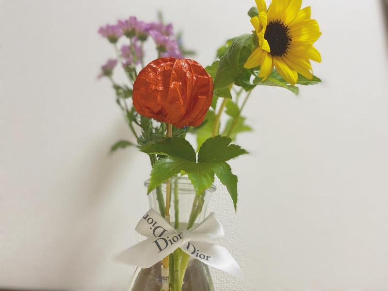 お花のある暮らしデビュー🌻