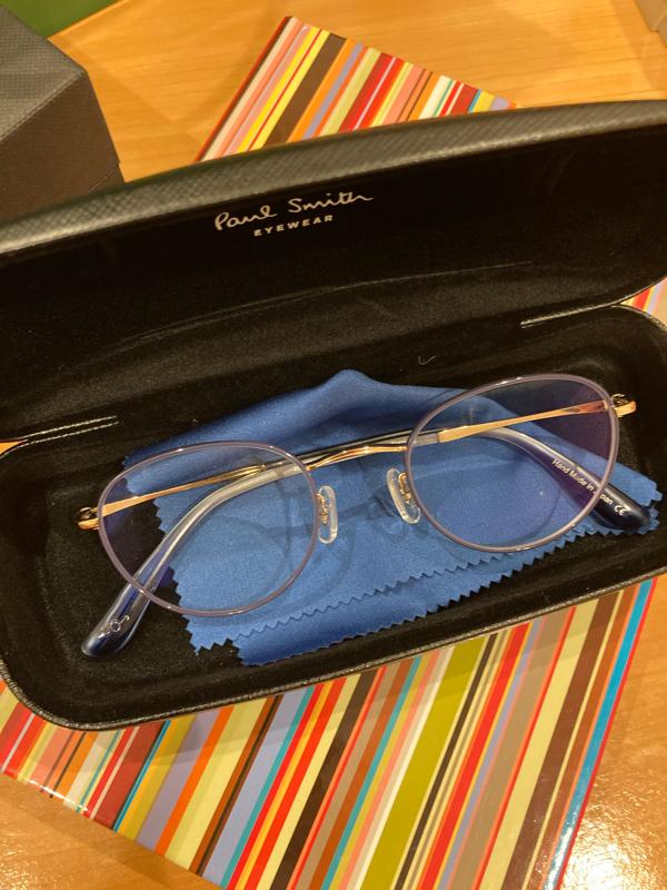 ポールスミスの眼鏡が届いた!嬉しい!