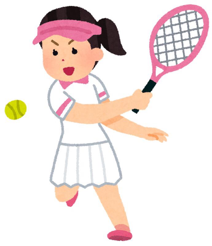 テニスをする(現在、過去、未来)