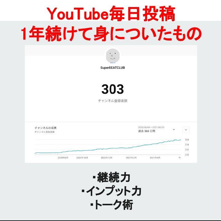 YouTube毎日投稿1年続けて身についたもの