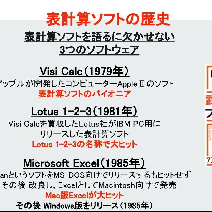 表計算ソフトの歴史