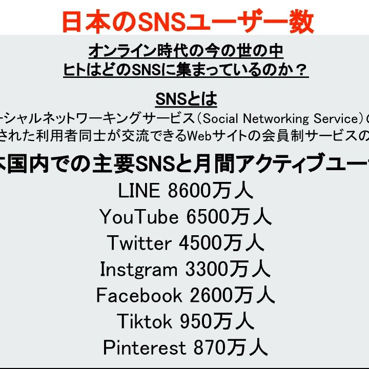 日本のSNSユーザー数