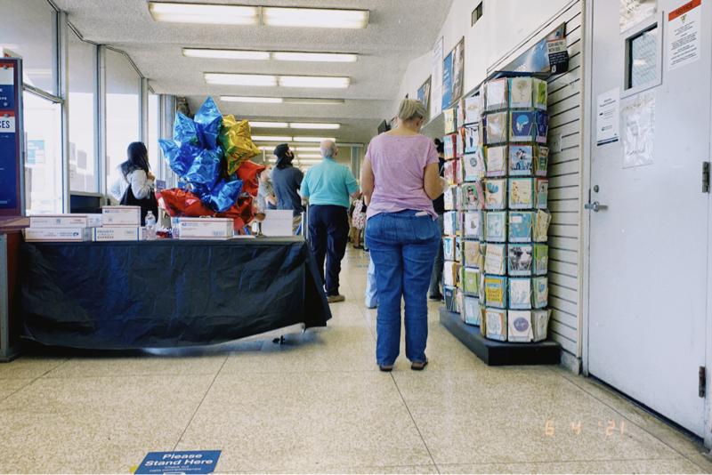 郵便局のおじさんのイライラがすごい