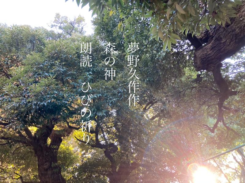 【2021.01.06 下弦の月の朗読会『夢野久作作森の神』】
