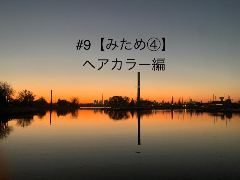 #9 【みため④】ヘアカラー編(オシャレ染め)