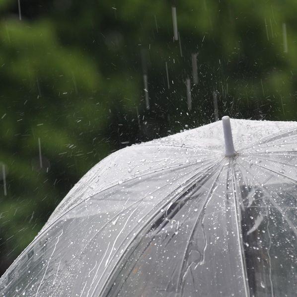 雨の日に洗い物しながら