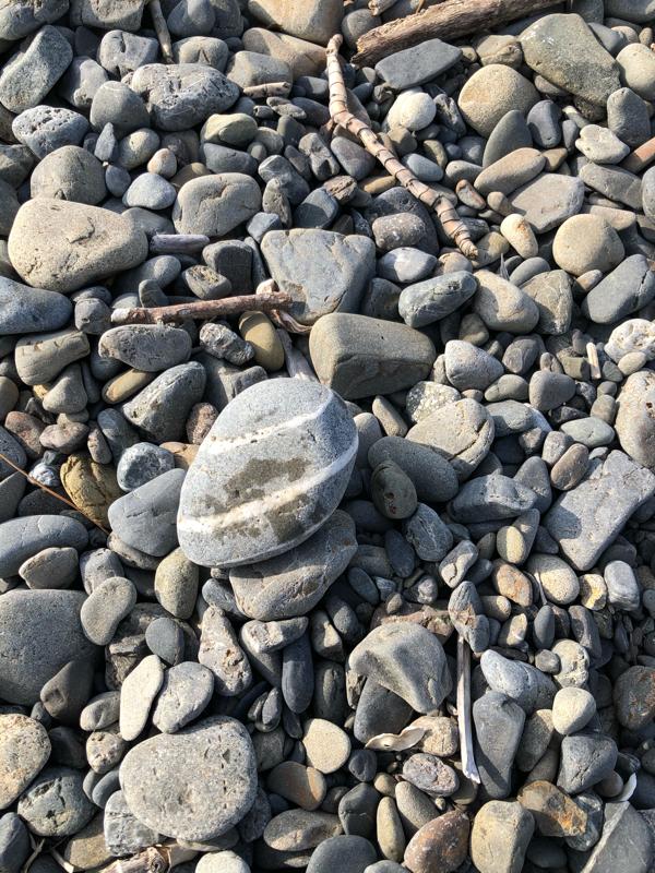 海でゴミ拾い&幸せのハチマキ石
