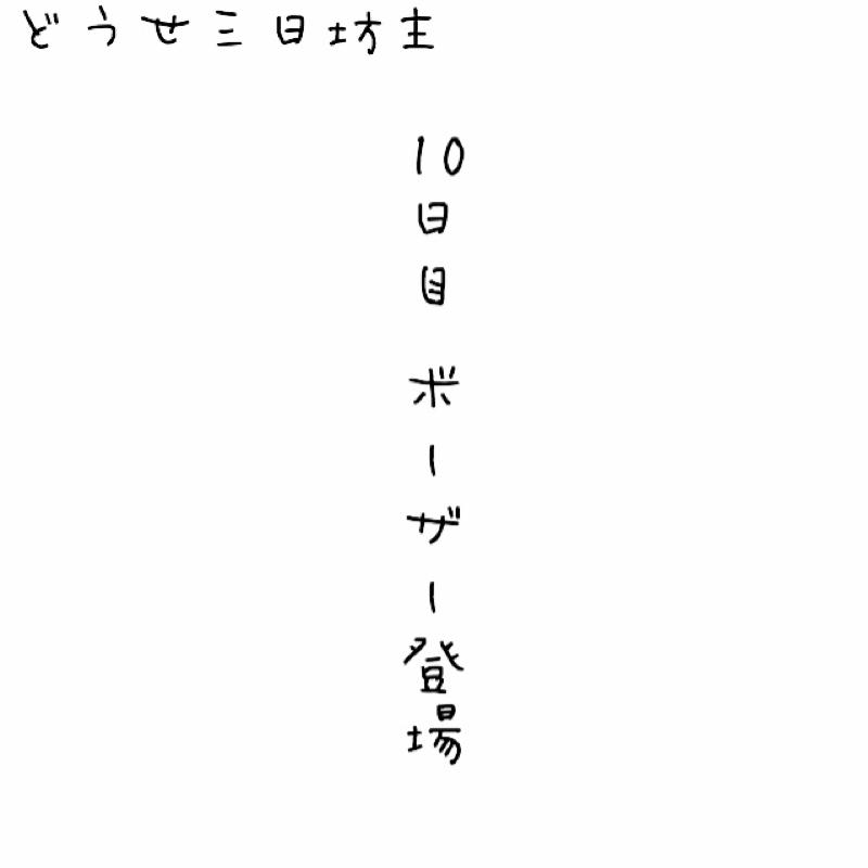 10日目 ボーザー登場