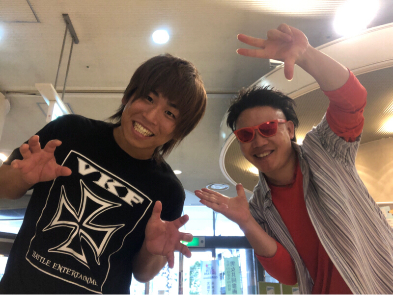 プロレスラー大谷譲二選手とあそこでばったりパチリ☆開運っ!!エトラジっ!!トピック