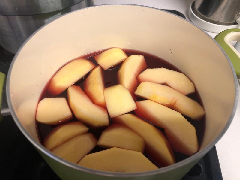 ヘアスタイルチェンジ・クリスマス?・りんごのワイン煮