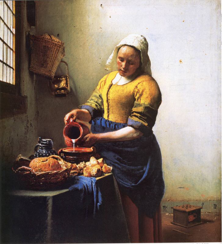 フェルメール第5回牛乳を注ぐ女