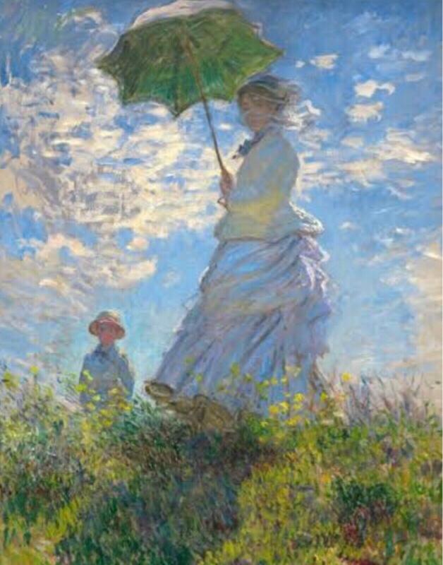 【弾き語り回】モネの日傘をさす女と惹きつけられる肖像画の話