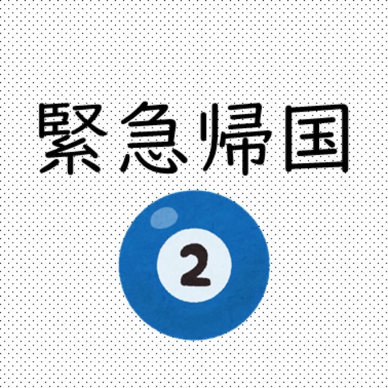 #171  緊急帰国(2):嫌な感じの汗→「嘘やん」→トイレを借りる→スース―→遠のく意識→「NO」