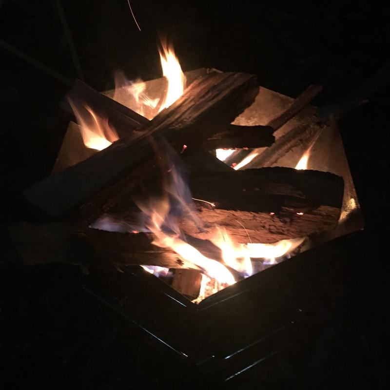 真冬の焚き火トーク