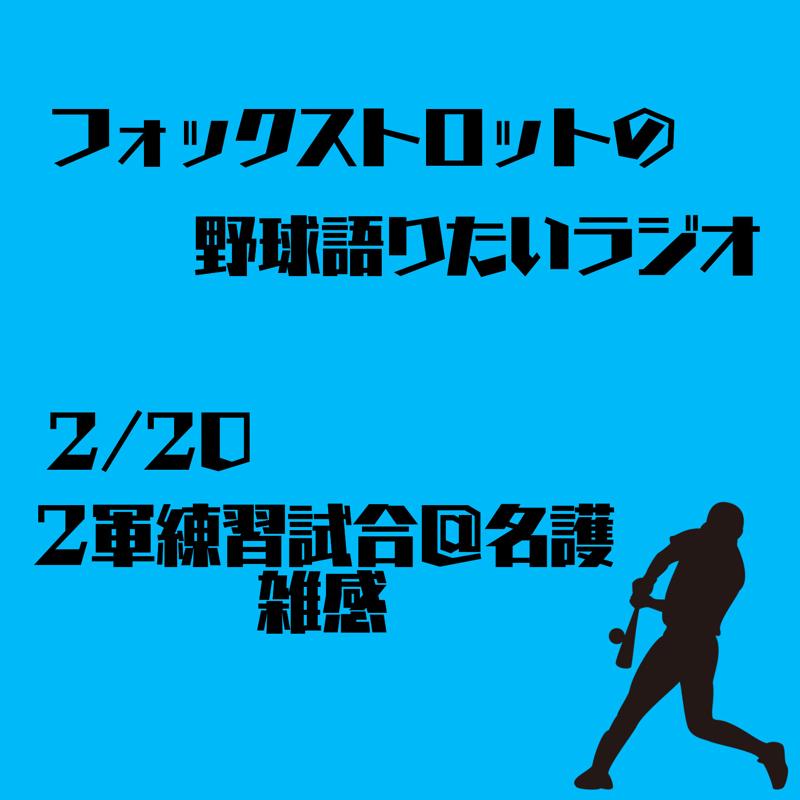 2/20 2軍練習試合@名護 雑感