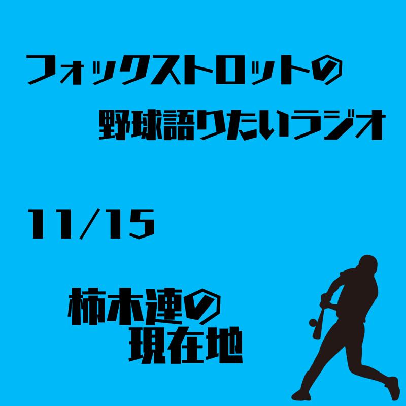 11/15 柿木連の現在地