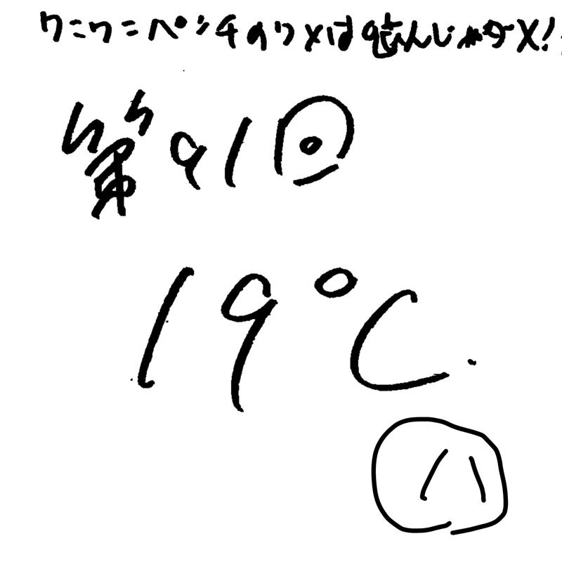 第91回 19℃