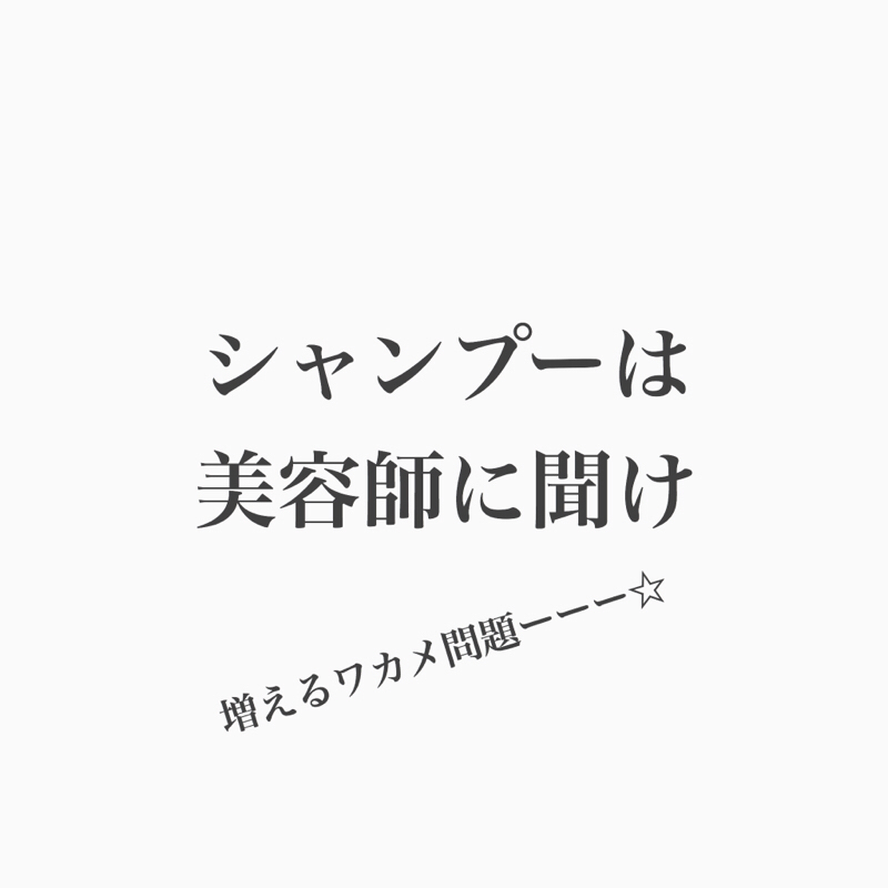 #105 マーケット日和からのシャンプー雑談。